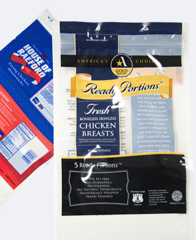 Poly bag flexible packaging food industry