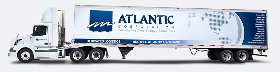 Atlantic packaging truck delivery materials jit